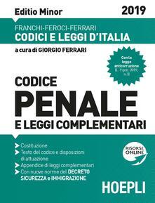 Codice penale e leggi complementari. Ediz. minore. Con espansione online - copertina