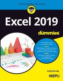 Excel 2019 For Dummies - Greg Harvey - copertina