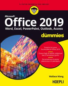 Office 2019 For Dummies. Word, Excel, Power Point, Outlook, Access - Wallace Wang - copertina