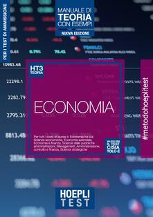 Squillogame.it Hoepli Test. Economia. Manuale di teoria con esempi. Per tutti i corsi di laurea in Economia Image