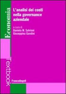 L' analisi dei costi nella governance aziendale