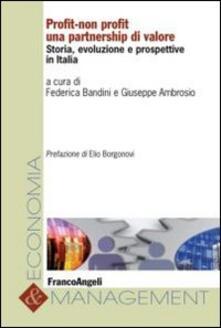 Profit-non profit. Una partnership di valore. Storia, evoluzione e prospettive in Italia - copertina