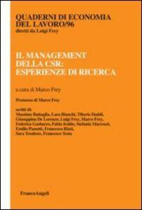 Libro Il management della CSR: esperienze di ricerca