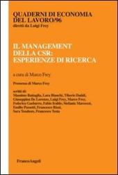 Il management della CSR: esperienze di ricerca