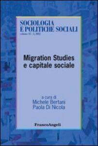 Libro Migration studies e capitale sociale