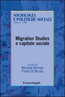 Migration studies e capitale sociale - copertina