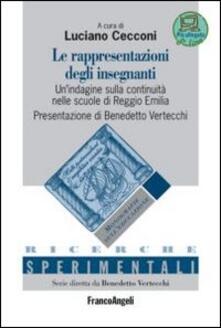 Le rappresentazioni degli insegnanti. Un'indagine sulla continuità nelle scuole di Reggio Emilia - copertina