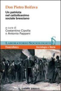 Foto Cover di Don Pietro Boifava. Un patriota nel cattolicesimo sociale bresciano, Libro di  edito da Franco Angeli
