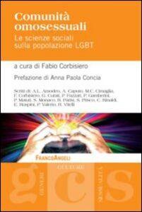 Foto Cover di Comunità omosessuali. Le scienze sociali sulla popolazione LGBT, Libro di  edito da Franco Angeli