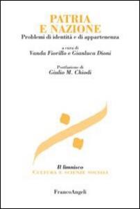 Libro Patria e nazione. Problemi di identità e di appartenenza