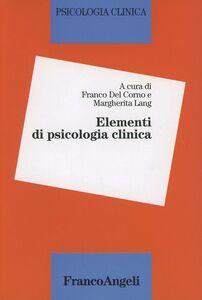 Libro Elementi di psicologia clinica
