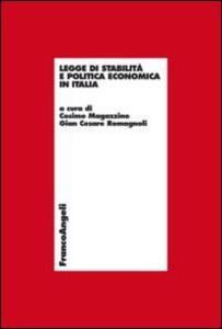 Legge di stabilità e politica economica in Italia