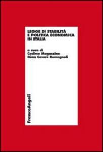 Libro Legge di stabilità e politica economica in Italia