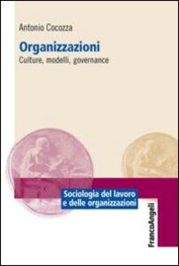 Libro Organizzazioni. Culture, modelli, governance Antonio Cocozza