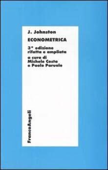 Econometrica - J. Johnston - copertina