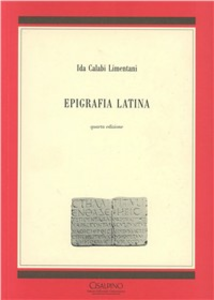 Libro Epigrafia latina Ida Calabi Limentani