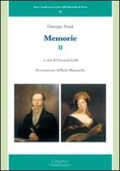 Giuseppe Frank. Memorie. Vol. 2