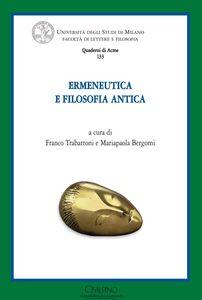 Libro Ermeneutica e filosofia antica