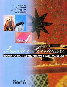 Milanospringparade.it Insetti e restauro. Legno, carta, tessuti, pellame e altri materiali Image