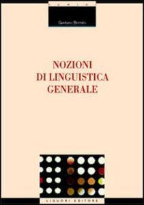 Libro Nozioni di linguistica generale Gaetano Berruto