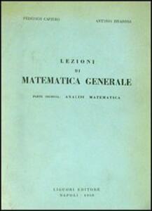 Lezioni di matematica generale. Vol. 2: Analisi matematica.