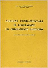 Nozioni fondamentali di legislazione e ordinamento sanitario