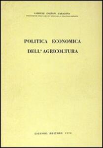 Politica economica dell'agricoltura