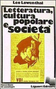 Letteratura, cultura popolare e società