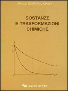 Sostanze e trasformazioni chimiche