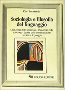 Sociologia e filosofia del linguaggio