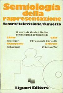 Libro Semiologia della rappresentazione André Helbo