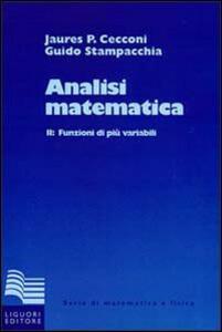 Analisi matematica. Vol. 2: Funzioni di più variabili.