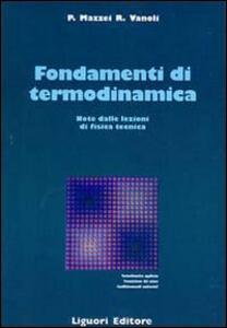 Fondamenti di termodinamica. Note dalle lezioni di fisica tecnica