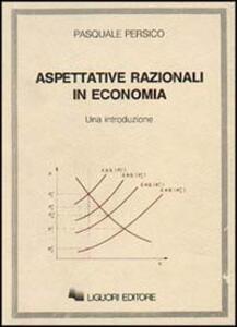 Aspettative razionali in economia
