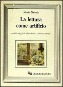 Libro La lettura come artificio Nicola Merola