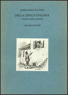 Della lingua italiana - Alessandro Manzoni - copertina