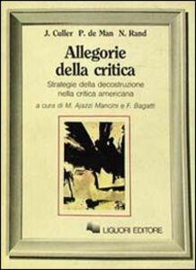 Foto Cover di Allegorie della critica, Libro di AA.VV edito da Liguori