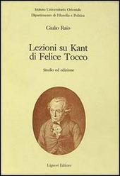 Lezioni su Kant di Felice Tocco. Studio ed edizioni
