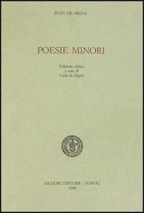 Libro Poesie minori Juan De Mena