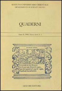 Foto Cover di Quaderni. Vol. 1, Libro di  edito da Liguori