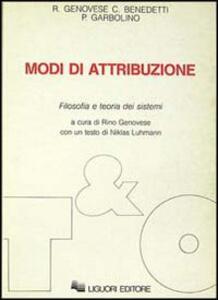 Modi di attribuzione. Filosofia e teoria dei sistemi