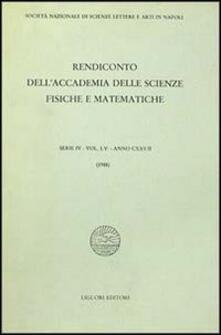 Winniearcher.com Rendiconto dell'Accademia delle scienze fisiche e matematiche. Serie IV. Vol. 55: Anno 1988. Image