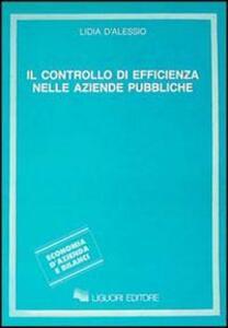 Il controllo di efficienza nelle aziende pubbliche