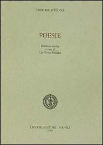 Libro Poesie. Ediz. critica Lope de Stuniga