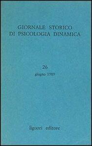 Giornale storico di psicologia dinamica. Vol. 26
