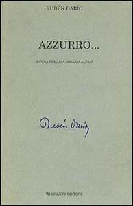 Libro Azzurro... Rubén Darío
