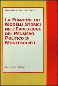 La funzione dei modelli storici nell'evoluzione del pensiero politico di Montesquieu