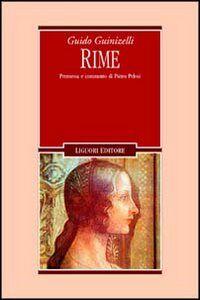 Libro Rime Guido Guinizzelli