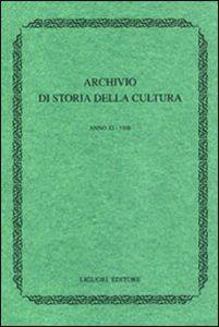 Libro Archivio di storia della cultura (1997). Con indice