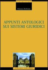 Appunti antologici sui sistemi giuridici